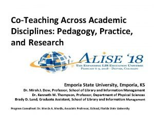 CoTeaching Across Academic Disciplines Pedagogy Practice and Research