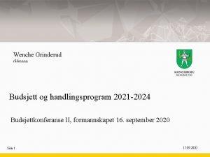 Wenche Grinderud rdmann Budsjett og handlingsprogram 2021 2024