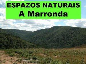 ESPAZOS NATURAIS A Marronda Incle parte dos vales