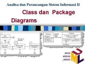 Analisa dan Perancangan Sistem Informasi II Class dan