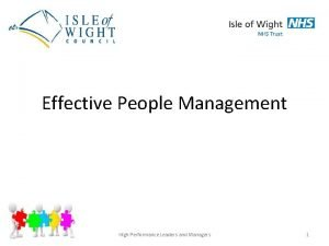 Effective People Management High Performance Leaders and Managers