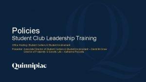 Policies Student Club Leadership Training Office Hosting Student
