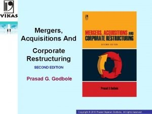 Mergers Acquisitions And Corporate Restructuring SECOND EDITION Prasad