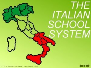 THE ITALIAN SCHOOL SYSTEM 1 I T G