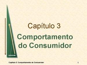 Captulo 3 Comportamento do Consumidor Captulo 3 Comportamento