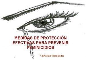 MEDIDAS DE PROTECCIN EFECTIVAS PARA PREVENIR FEMINICIDIOS Christian