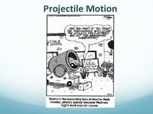 Projectile Motion Motion in Two Dimensions A projectile