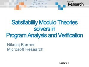 Satisfiability Modulo Theories solvers in Program Analysis and