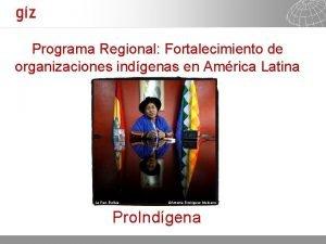 Programa Regional Fortalecimiento de organizaciones indgenas en Amrica