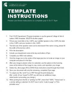 TEMPLATE INSTRUCTIONS Please use these instructions to complete