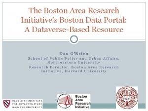 The Boston Area Research Initiatives Boston Data Portal