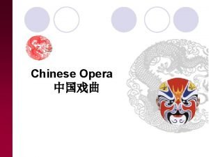 Chinese Opera Contents Introduction Varieties Peking Opera Introduction