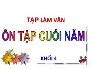 TP LM VN KHI 4 Trng ln Ngy