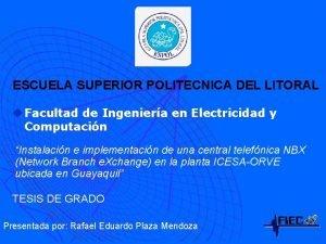ESCUELA SUPERIOR POLITECNICA DEL LITORAL u Facultad de