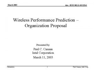 March 2003 doc IEEE 802 11 03225 r