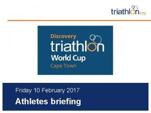 Insert Event Logo Friday 10 February 2017 Athletes