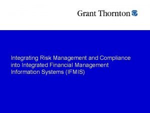 Integrating Risk Management and Compliance into Integrated Financial