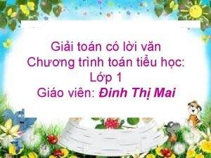 Gii ton c li vn Chng trnh ton