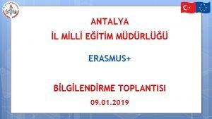 ANTALYA L MLL ETM MDRL ERASMUS BLGLENDRME TOPLANTISI