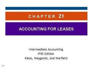 CHAPTER 21 ACCOUNTING FOR LEASES Intermediate Accounting IFRS
