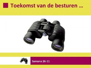 Toekomst van de besturen Samana 26 11 De