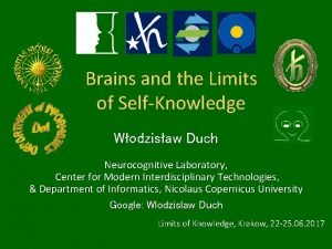 Brains and the Limits of SelfKnowledge Wodzisaw Duch
