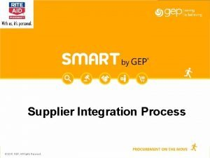 Supplier Integration Process 2015 GEP All Rights Reserved