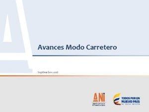 Avances Modo Carretero Septiembre 2016 2 AVANCES MODO