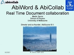 Abi Word Abi Collab Real Time Document collaboration