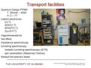 Transport facilities Quantum Design PPMS T 350 m