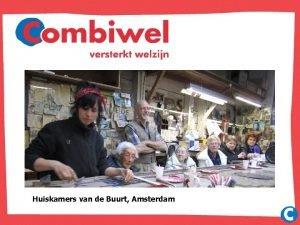 Huiskamers van de Buurt Amsterdam Huiskamer van de