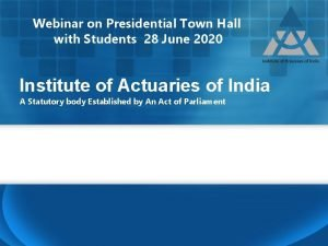 Webinar on Presidential Town Hall with Students 28