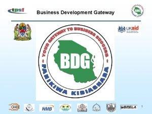 Business Development Gateway 1 Business Development Gateway Presentation
