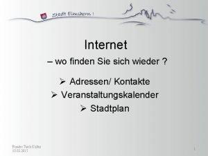 Internet wo finden Sie sich wieder Adressen Kontakte