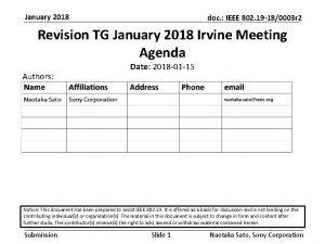 January 2018 doc IEEE 802 19 180003 r