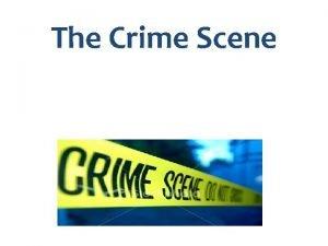 The Crime Scene Police On The Scene You