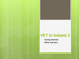 VET in Ireland 2 Young learners Other learners