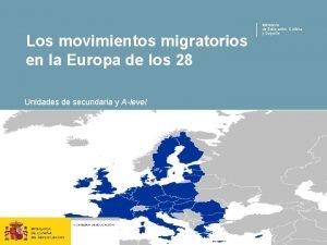 Los movimientos migratorios en la Europa de los
