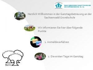 Herzlich Willkommen in der Ganztagsbetreuung an der Sachsenwald