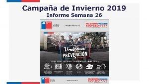 Campaa de Invierno 2019 Informe Semana 26 Vigilancia