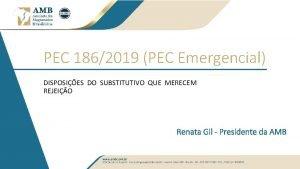 PEC 1862019 PEC Emergencial DISPOSIES DO SUBSTITUTIVO QUE