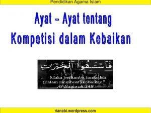 Kompetisi dalam Prestasi Kompetisi dalam Belajar Kompetisi dalam