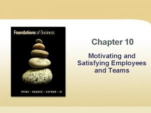 Chapter 10 Motivating and Satisfying Employees and Teams