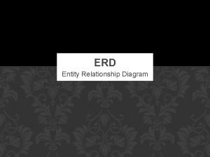 ERD Entity Relationship Diagram PENGERTIAN ERD Model yang
