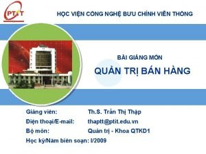 HC VIN CNG NGH BU CHNH VIN THNG