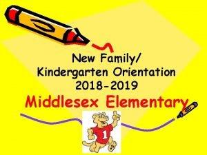 New Family Kindergarten Orientation 2018 2019 Middlesex Elementary