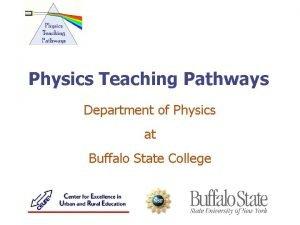 Physics Teaching Pathways Department of Physics at Buffalo