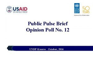 LOGO Public Pulse Brief Opinion Poll No 12