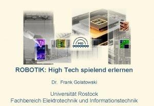 ROBOTIK High Tech spielend erlernen Dr Frank Golatowski