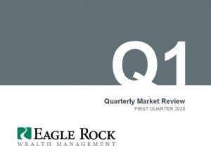 Q 1 Quarterly Market Review FIRST QUARTER 2020